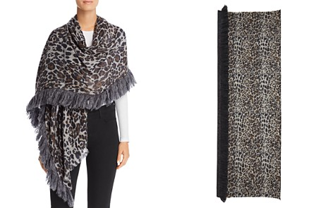 Gaynor Spotty Leopard Print Scarf - 100% Exclusive - Bloomingdale's_2