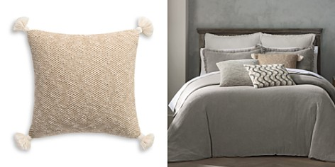 """Habit Collection by Highline Bedding Co. Knit with Tassles Decorative Pillow, 20"""" x 20"""" - 100% Exclusive - Bloomingdale's_2"""