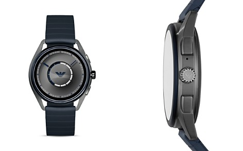Emporio Armani Blue Strap Touchscreen Smartwatch, 43mm - Bloomingdale's_2