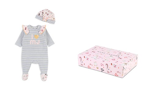 Little Marc Jacobs Girls' Striped I Love MJ Footie & Hat Set - Baby - Bloomingdale's_2