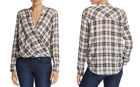 Splendid Plaid Crossover Top - Bloomingdale's_2