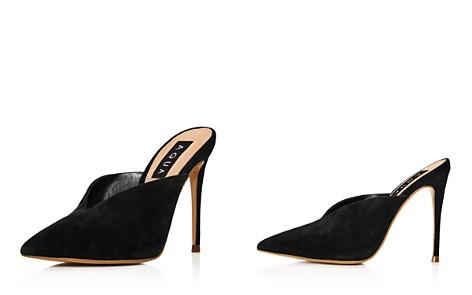 AQUA Women's Suede Pointed Toe High-Heel Mules - 100% Exclusive - Bloomingdale's_2