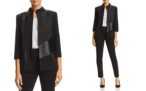 Misook Faux Leather-Panel Jacket - Bloomingdale's_2