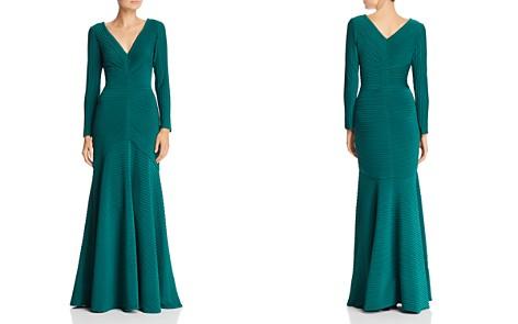Tadashi Shoji Pintuck Pleated Gown - Bloomingdale's_2