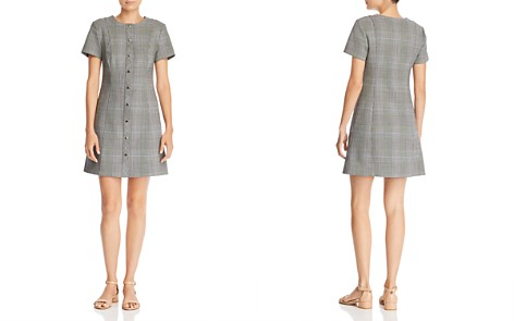 Theory Easy Snap Glen Plaid Dress - Bloomingdale's_2