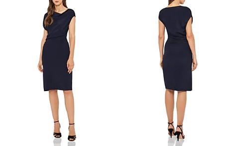 REISS Lore Asymmetric Draped Dress - Bloomingdale's_2