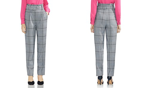 VINCE CAMUTO Glen Plaid Paperbag-Waist Pants - Bloomingdale's_2