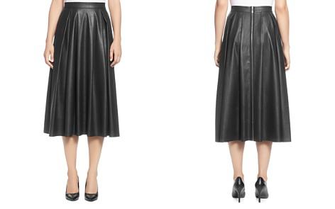 T Tahari Faux Leather Pleated Midi Skirt - Bloomingdale's_2