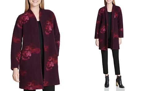 Calvin Klein Floral Print Coat - Bloomingdale's_2