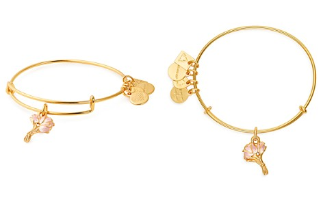 Alex and Ani Pink Tulips Expandable Charm Bracelet - Bloomingdale's_2