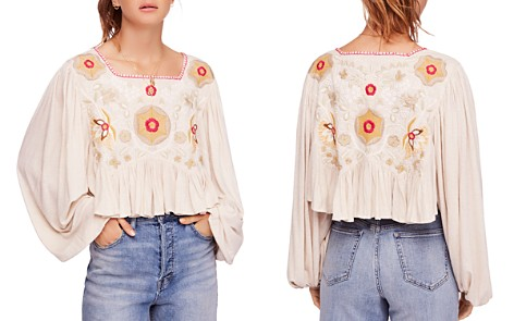 Free People Claudine Embroidered Top - Bloomingdale's_2
