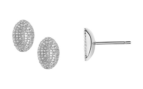Links of London Sterling Silver Diamond Essentials Pavé Concave Earrings - Bloomingdale's_2