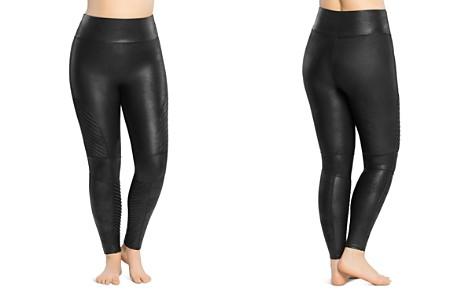 SPANX® Plus Moto Faux Leather Leggings - Bloomingdale's_2