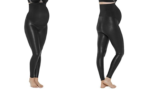 SPANX® Mama Maternity Faux Leather Leggings - Bloomingdale's_2