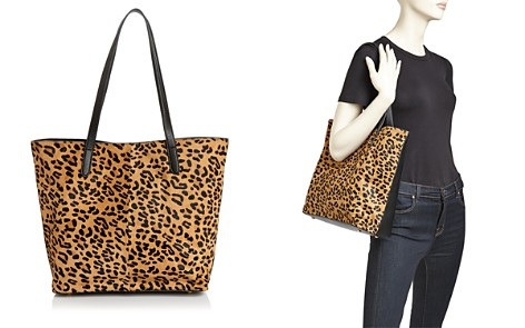 AQUA Leopard Print Calf Hair Tote - 100% Exclusive - Bloomingdale's_2