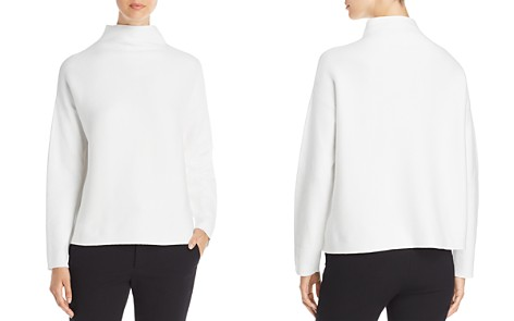 Eileen Fisher Funnel Neck Box Top - Bloomingdale's_2