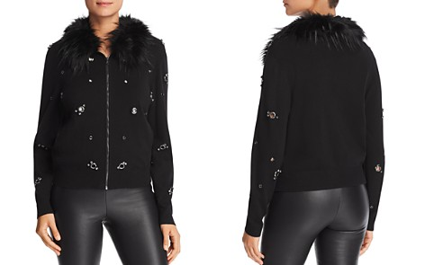 Le Gali Paige Grommet Zip-Up Cardigan - 100% Exclusive - Bloomingdale's_2