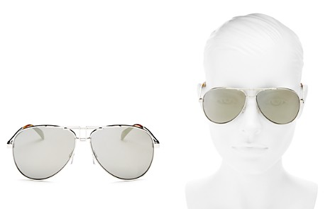 Givenchy Women's Mirrored Brow Bar Aviator Sunglasses, 61mm - Bloomingdale's_2