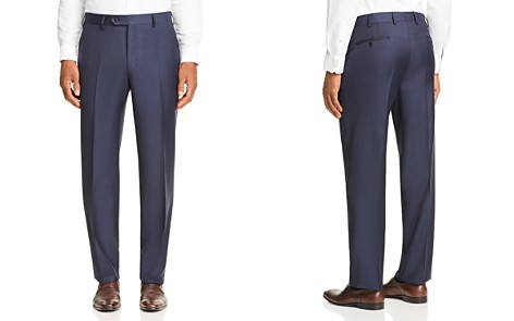 Luigi Bianchi Mélange Tic-Weave Regular Fit Dress Pants - 100% Exclusive - Bloomingdale's_2
