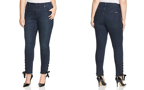Seven7 Jeans Plus Lace-Up Hem Skinny Jeans in Signal Wash - Bloomingdale's_2