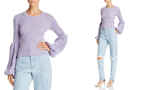 Ksenia Schnaider Poet-Sleeve Sweater - 100% Exclusive - Bloomingdale's_2