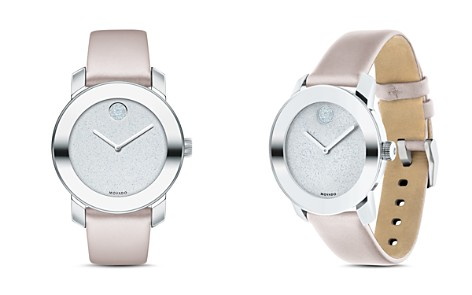 Movado BOLD Blush Leather Strap Watch, 36mm - Bloomingdale's_2