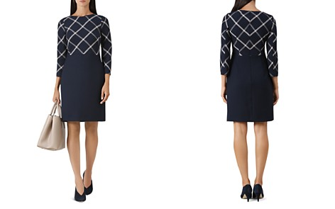 HOBBS LONDON Carolyn Windowpane Sheath Dress - Bloomingdale's_2