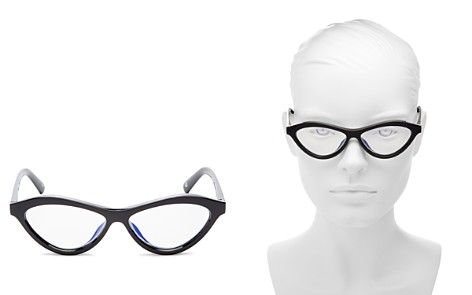 The Book Club Women's Fifty Fails a Day Cat Eye Blue Screen Filter Glasses, 54mm - Bloomingdale's_2