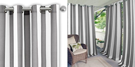 """Elrene Home Fashions Aiden Stripe Indoor/Outdoor Curtain Panel, 50"""" x 84"""" - Bloomingdale's_2"""