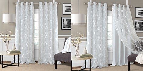 """Elrene Home Fashions Bethany Geometric Overlay Blackout Curtain Panel, 52"""" x 95"""" - Bloomingdale's_2"""