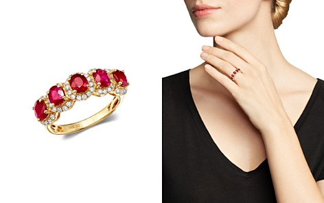 Bloomingdale's Ruby & Diamond Ring in 14K Yellow Gold - 100% Exclusive_2