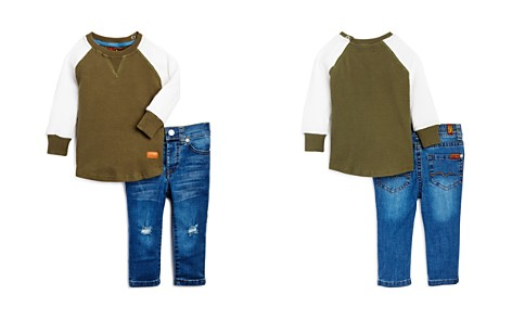 7 For All Mankind Boys' Thermal Shirt & Skinny Jeans Set - Baby - Bloomingdale's_2