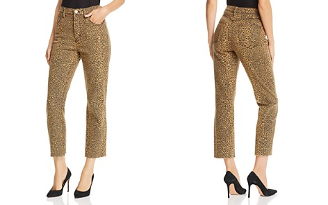 Current/Elliott The Stiletto Raw-Edge Cropped Straight-Leg Jeans in Spotted Leopard - Bloomingdale's_2