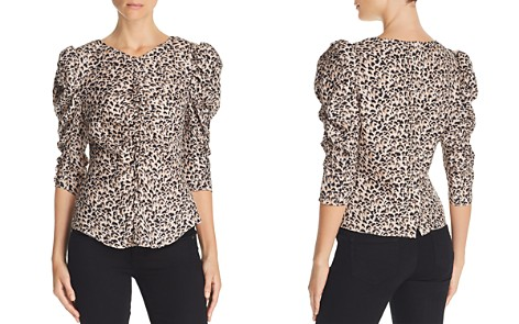 Rebecca Taylor Ruched Leopard-Printed Silk Top - Bloomingdale's_2