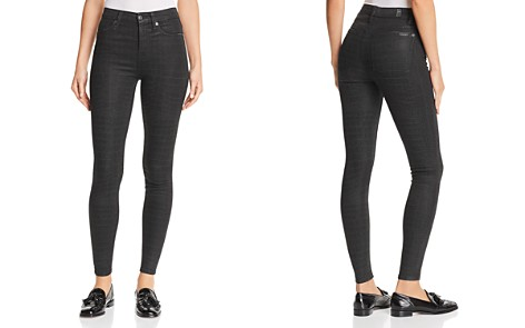7 For All Mankind Croc-Print Coated Ankle Skinny Jeans in Black/Gray - Bloomingdale's_2