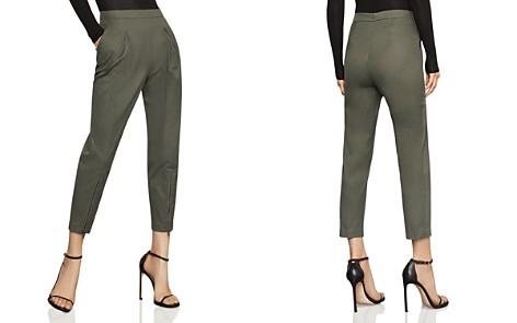 BCBGMAXAZRIA Pleated Zip-Hem Ankle Pants - 100% Exclusive - Bloomingdale's_2