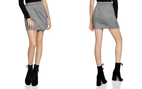 BCBGeneration Asymmetric Houndstooth Mini Skirt - Bloomingdale's_2
