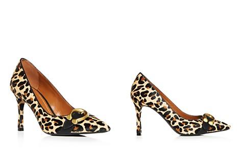 COACH Women's Waverly Leopard Print Calf Hair Pointed Toe Pumps - Bloomingdale's_2