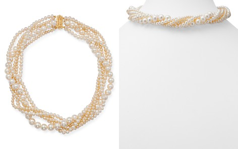 """Bloomingdale's Cultured Freshwater Pearl Torsade Necklace in 14K Yellow Gold, 17"""" - 100% Exclusive_2"""