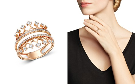 Bloomingdale's Diamond Crown Statement Ring in 14K Rose Gold, 0.50 ct. t.w. - 100% Exclusive_2