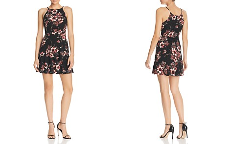 AQUA Ruffled Floral Print Dress - 100% Exclusive - Bloomingdale's_2