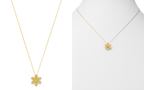 Bloomingdale's Diamond Flower Pendant Necklace in 14K Yellow Gold, 0.25 ct. t.w. - 100% Exclusive_2