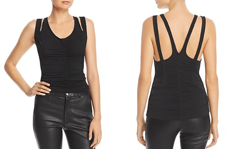 T by Alexander Wang Ruched Strap-Detail Tank - Bloomingdale's_2