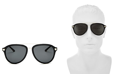 Versace Collection Men's Brow Bar Aviator Sunglasses, 58mm - Bloomingdale's_2