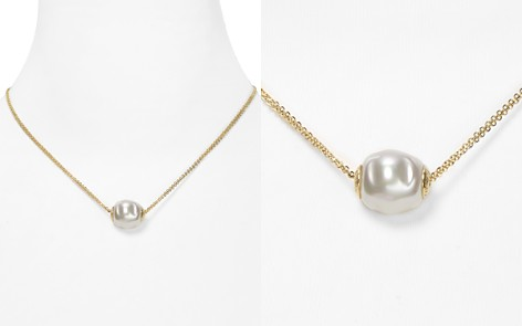 "Majorica Double Chain Simulated Pearl Necklace, 16"" - Bloomingdale's_2"