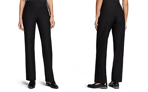 Eileen Fisher System Stretch-Crepe Straight Pants - Bloomingdale's_2