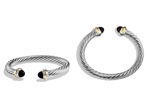 David Yurman Cable Classics Bracelet with Black Onyx and Gold - Bloomingdale's_2