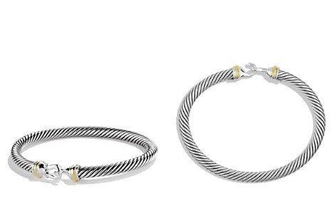 David Yurman Cable Buckle Bracelet with Gold - Bloomingdale's_2