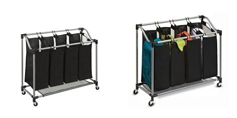 Honey Can Do Steel Rolling Elite 4-Section Laundry Sorter - Bloomingdale's Registry_2