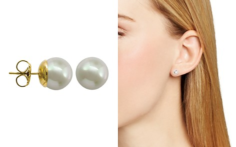 Majorica Simulated Pearl Stud Earrings - Bloomingdale's_2